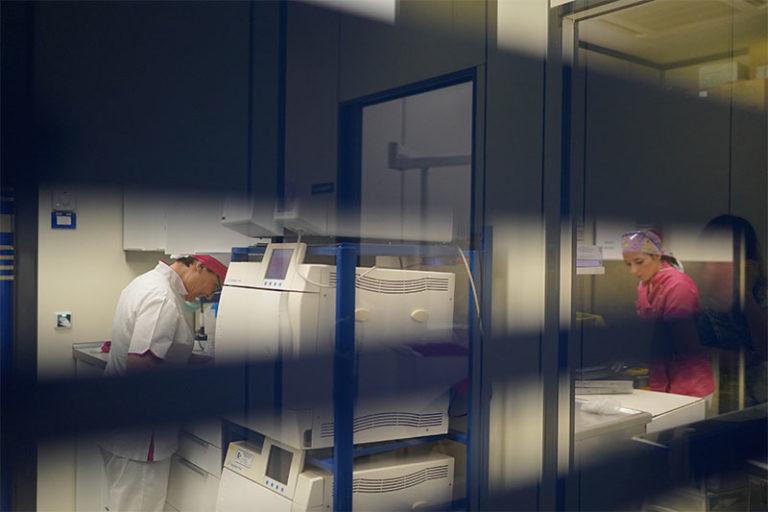La sala sterilizzazione