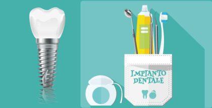 Come si pulisce un impianto dentale